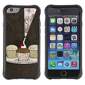 Suave TPU GEL Carcasa Funda Silicona Blando Estuche Caso de protección (para) Apple Iphone 6 PLUS 5.5 / CECELL Phone case / / Cute Cupcakes Pattern /