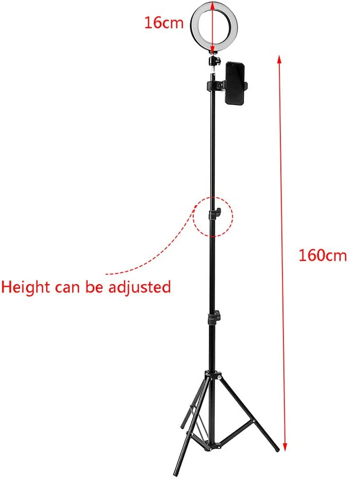 Fill Light Stand,Wulidasheng Camera Accessories Telescopic Dimmable Ring Fill Light Makeup Studio LED Photo Lamp Stand Tripod