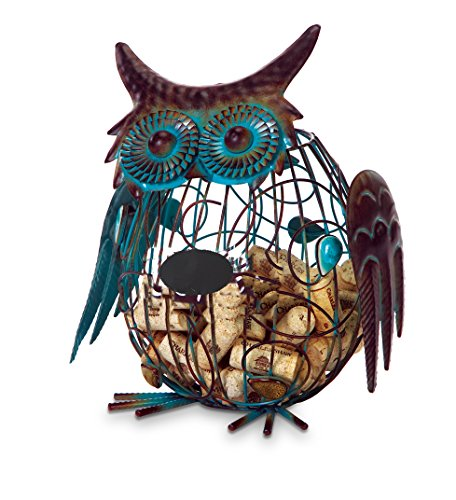 Patina Finish Owl Cork Cage