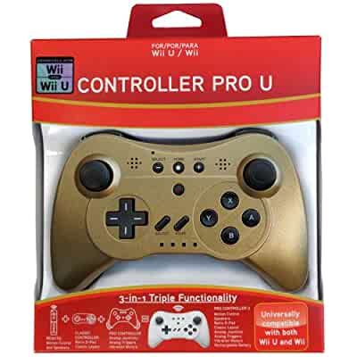 Amazon.com: Pro Controller U for Wii and Wii U - Gold LE