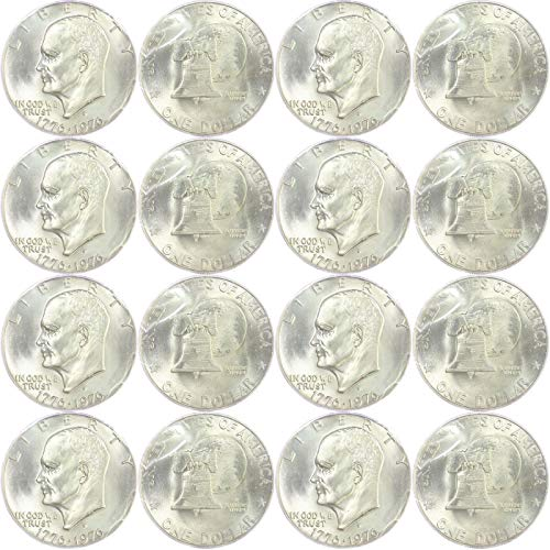 1976 S Eisenhower Dollars 20 Coin Roll 90% Silver US Mint Cello Brilliant Uncirculated