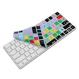XSKN Magic Keyboard Photoshop CC Shortcut Keyboard Cover, XSKN Durable PS Hotkeys Silicone Keyboard Skin for Apple Magic Keyboard MLA22LL/A, US version