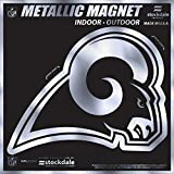 Los Angeles Rams 6'' MAGNET Silver Metallic Style Vinyl Auto Home Football