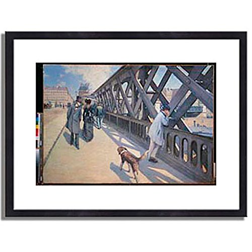 ギュスターヴカイユボット Gustave Caillebotte「ヨーロッパ橋 The Europe Bridge. 1876 」 インテリア アート 絵画 プリント 額装作品 フレーム:木製(黒) サイズ:S (221mm X 272mm) B00N63STOM 1.S (221mm X 272mm)|3.フレーム:木製(黒) 3.フレーム:木製(黒) 1.S (221mm X 272mm)
