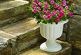 (6) ea Novelty Mfg # 38192 19'' White Classic Plastic Porch Urn/Planters