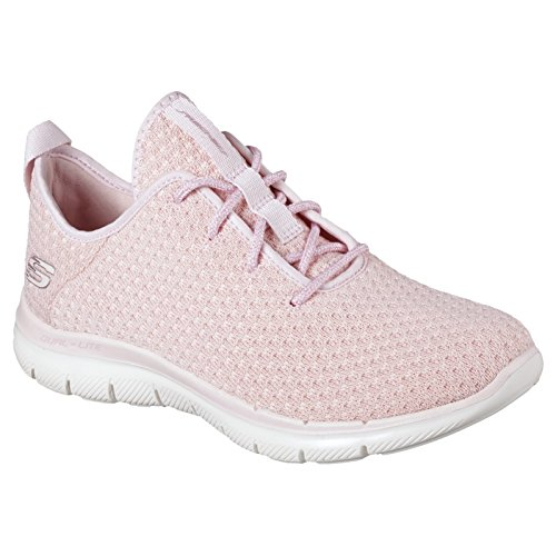 Skechers Womens Flex Appeal 2.0 - Bold Move Light Pink Walking Shoe - 10