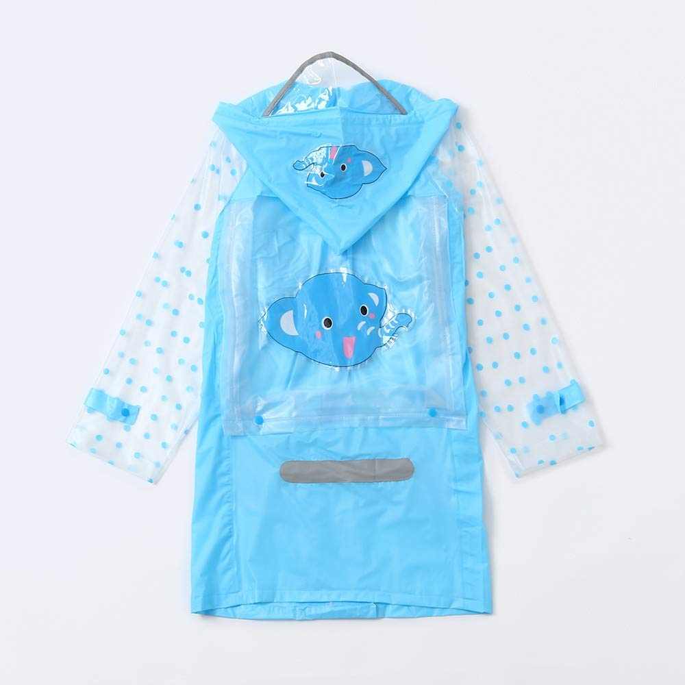 Infant Kid Child Baby Cartoon Reflective Tape Raincoat Bag+Waterproof Warm Boot