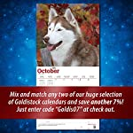 """Goldistock 2020 Large Wall Calendar -""""Siberian Huskies"""" - 12"""" x 24"""" (Open) - Thick & Sturdy Paper - - Fun-Loving and Outgoing Dogs 10"""