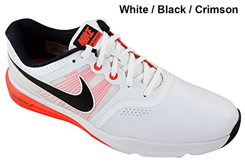 Nike Lunar Command Men's Golf Shoes, White/Bright Crimson...