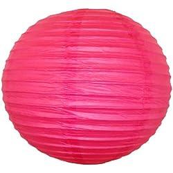 """Just Artifacts 22"""" Magenta Pink Chinese/Japanese Paper Lantern/Lamp 22"""" Diameter - Just Artifacts Brand"""