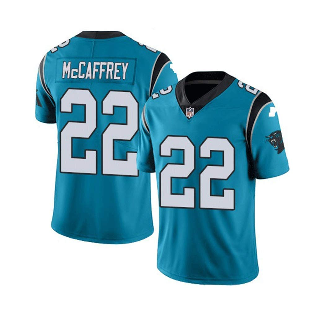 Carolina Panthers Pro Rugby Jersey #22 McCAFFREY Tech Breathable Conner #30 Cotton Jersey T-Shirt Rugby Suit Large Boys