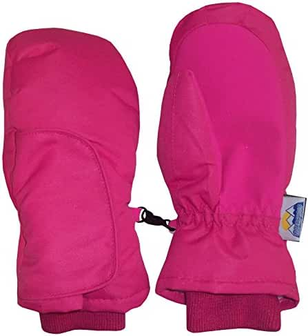 N'Ice Caps Kids Easy On Velcro Wrap Waterproof Thinsulate Winter Snow Mitten