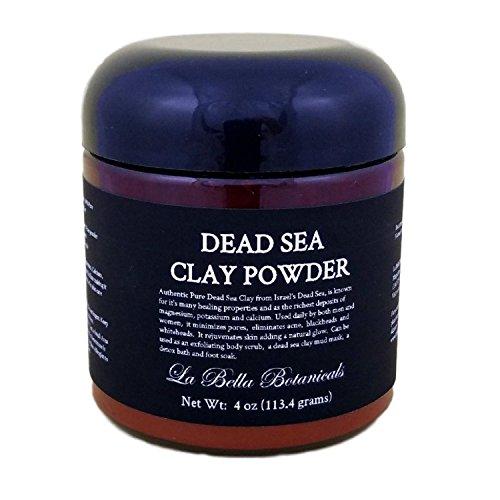 Botanical Mud Powder - Dead Sea Clay Powder, 4 Oz (440 Gram) For Use In Dead Sea Mud Masks, Exfoliating Body Scrub, Deep Cleansing - Mineral Rich - Dead Skin Remover - La Bella Botanicals