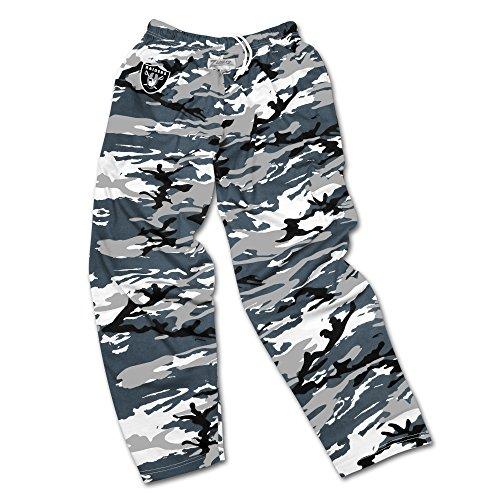 - Zubaz NFL Oakland Raiders Men's Camo Print Team Logo Casual Active Pants, Large, Silver/Gray/Black