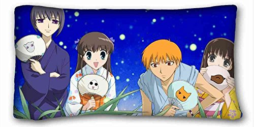 Soft Pillow Case Cover ( Anime Fruits Basket ) Zippered B...