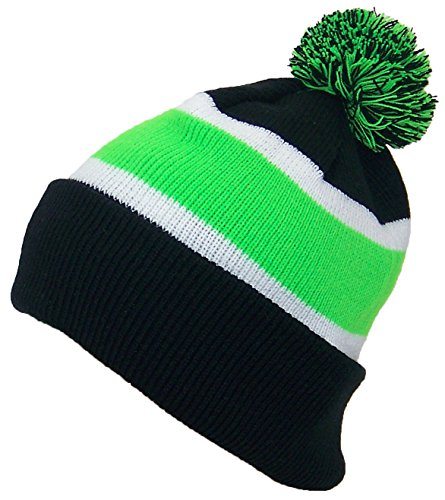 e4353dfd1fa Best Winter Hats Quality Cuffed Cap With Large Pom Pom (One - Import ...