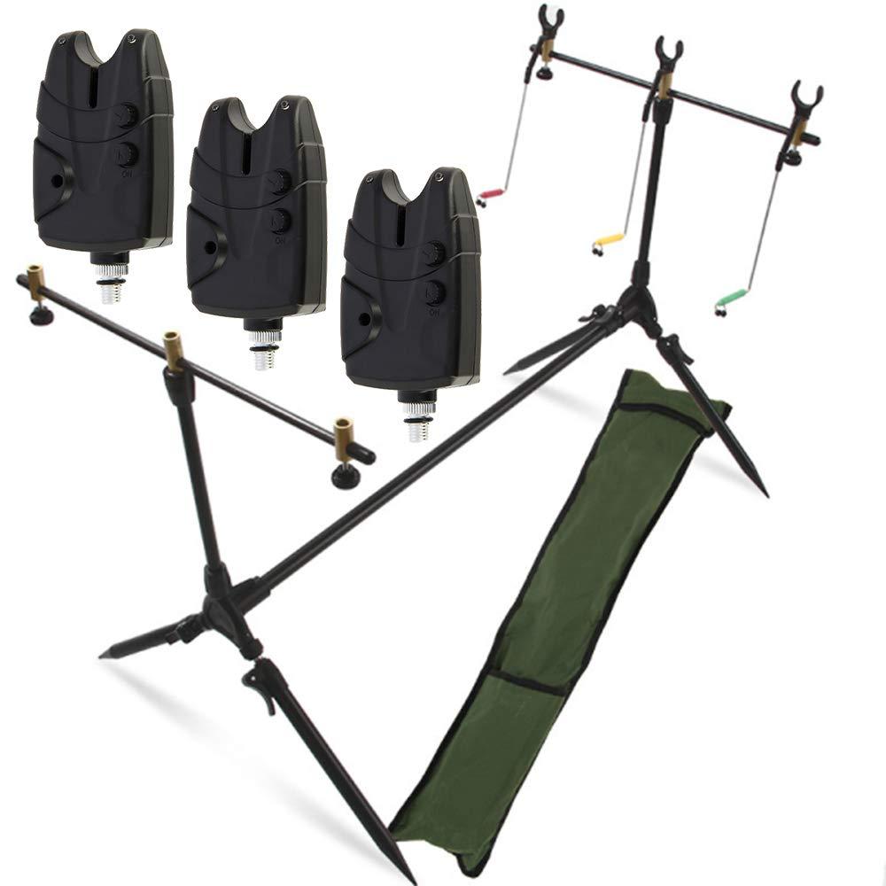 G8DS Bissanzeigerset Freizeit Outdoor Rutenhalter Anglerset Angeln
