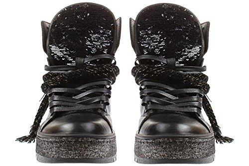 25901a17 Schuhe Schnüre Sneaker Crime London Damen BlackGröße wOPNn08kX