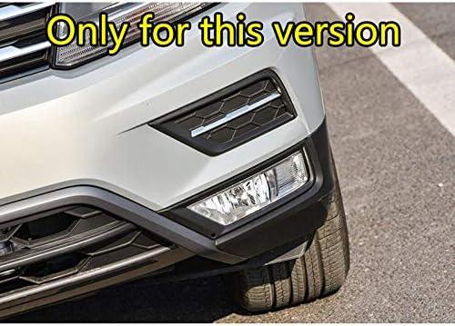 pour VW Tiguan 2016 2017 XHULIWQ Cadre de lumi/ère Avant de Voiture Garniture Avant Accessoires de Garniture de Voiture de Garniture de Couverture