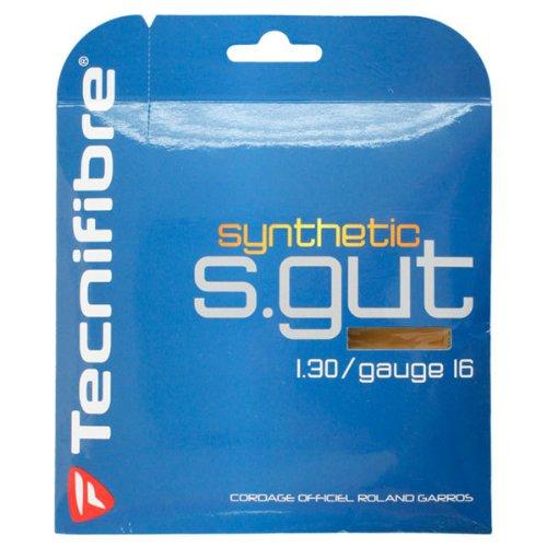 Tecnifibre-Synthetic Gut 16g Gold Tennis String-(3490150070799) ()