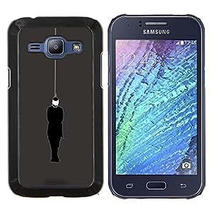 LECELL--Funda protectora / Cubierta / Piel For Samsung Galaxy J1 J100 -- Con los ojos vendados --