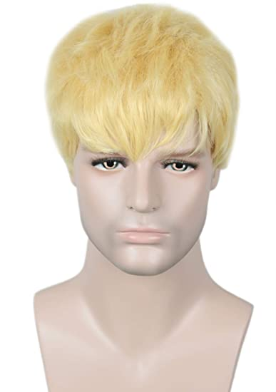 Linfairy Short Glonde Blonde Wig Halloween