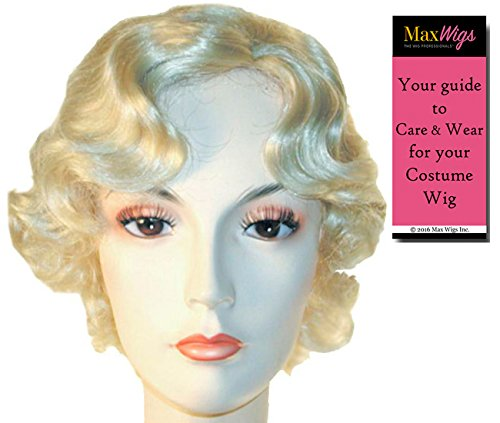Marilyn Monroe - Lacey Wigs Women's Blonde Hollywood Actress Young Marylin 1950s Bundle with MaxWigs Costume Wig Care Guide -
