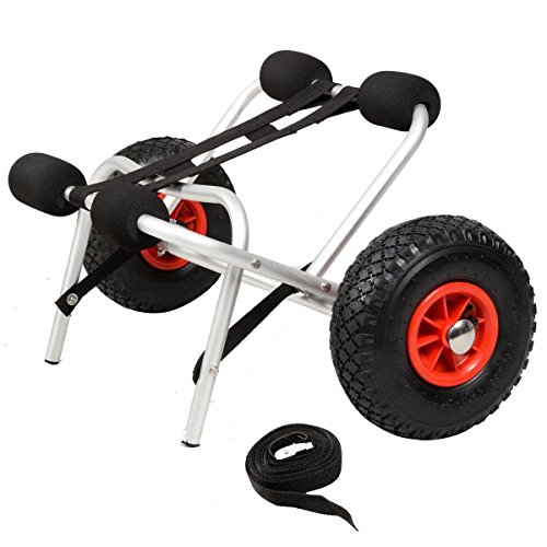 Package Boat Jon (New Aluminum Kayak Jon Boat Canoe Gear Dolly Cart Trailer Carrier Trolley Wheels)