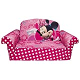 Marshmallow Furniture, Childrens 2 in 1 Flip Open Foam Sofa, Disney Minnie's Bow-tique, by Spin Master