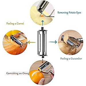 UMS Stainless Steel Multi-purpose Vegetable Peeler&Julienne Cutter Kitchen Accessories Cooking Tools
