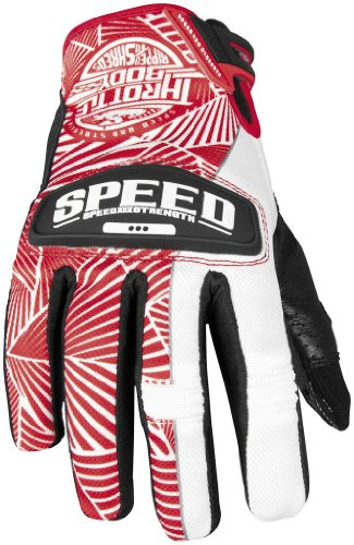 Speed and Strength Womens Throttle Body Leather Mesh Gloves 2013 Red White S/Small (Strength Womens Throttle Body)
