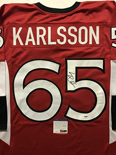 Autographed/Signed Erik Karlsson Ottawa Red Hockey Jersey PSA/DNA COA