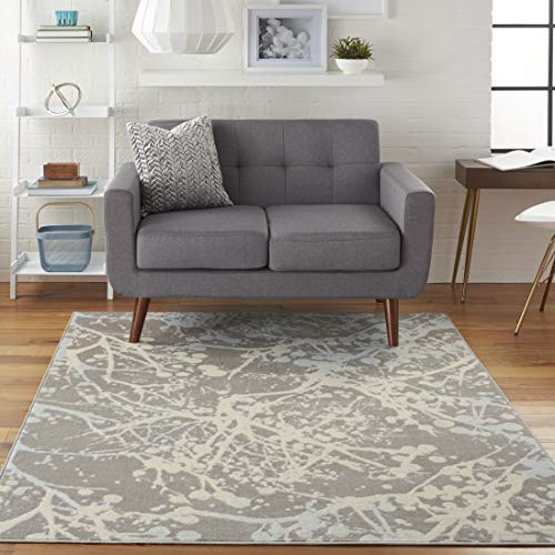 Nourison JUB12 Jubilant Abstract Grey Area Rug 4 x 6