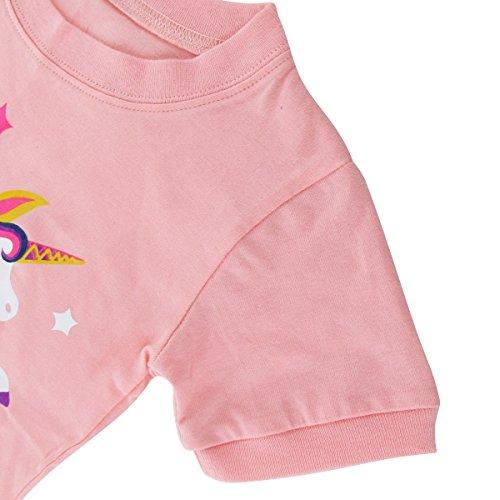 Vêtements Été Mombebe Enfant Pyjamas De Kids Nuit Fille Licorne redBCxo