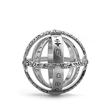 Anello a Sfera astronomico Retro Flip Ball Type Into Anello a Sfera astronomico Universo Creative Studente Finger Link Gift Lover Gioielli Regali