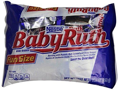 Baby Ruth Chocolate Bars, Fun Size, 11.5 -