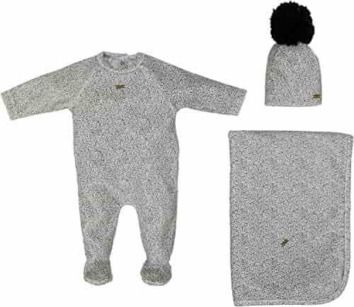 4ca9f06688ca Cream Bebe Newborn Baby Gift Set Take Me Home Soft Footie Blanket and Hat