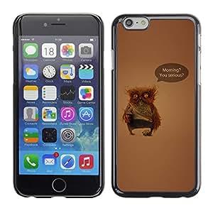 SKCASE Center / Funda Carcasa - Serious Owl;;;;;;;; - iPhone 6