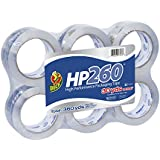 Duck Brand HP260 High Performance 3.1 Mil Packaging Tape, 1.88-Inch x 60-Yard, Crystal Clear, 6-Pack (1296093)