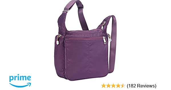 1e3f14f7a98ccf eBags Piazza Daybag 2.0 with RFID Security - Small Satchel Crossbody for  Travel, Work, Business - (Aubergine): Handbags: Amazon.com