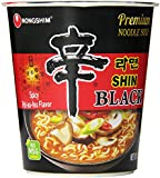 Nongshim Shin Black Noodle Soup, Spicy, 3.56 (Pack of 6)