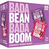 Enlightened Bada Bean Bada Boom Plant Protein Gluten Free Roasted Broad Fava Bean Snack, Sweet Variety Pack, 24 Count