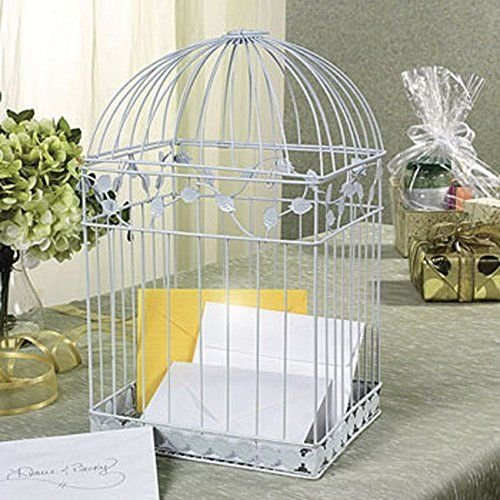 Oriental Trading - White Birdcage Wedding Gift Card Holder Wishing Well, New, Fr ,,#G434G14 1T4G3484TYG482764