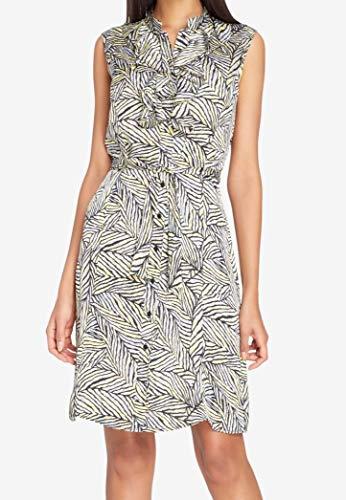 - Tahari by ASL Women Petite Belted Print Shift Dress Yellow 16P