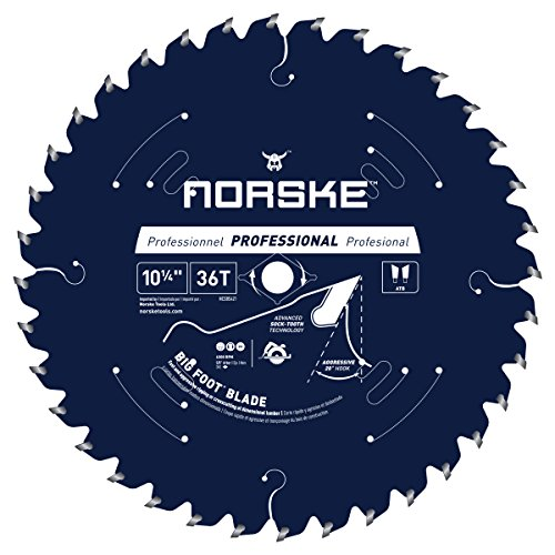 0.25 Inch Lightweight Circular Saw - Norske Tools NCSBS421 10-1/4 inch 36Tooth Beam Saw Blade