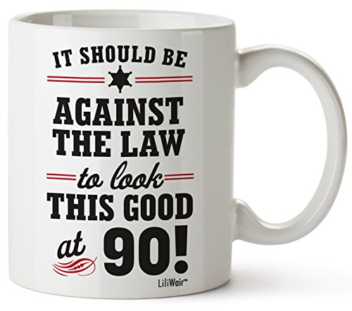 90th Birthday Gifts For Women Ninety Years Old Men Gift Mugs Happy Funny 90 Mens Womens Womans Wifes Female Man Best Friend 1929 Mug Male Unique Ideas 29 Woman Wife Gag Dad Girls Guys Good Husband