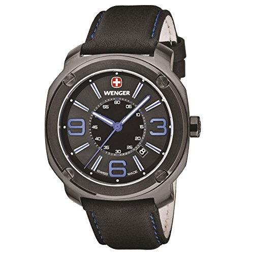 Wenger Men's 01.1051.105 Escort Analog Display Swiss Quartz Black Watch