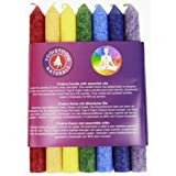FindSomethingDifferent Tapered Aroma Candles Set of 7 Chakra's