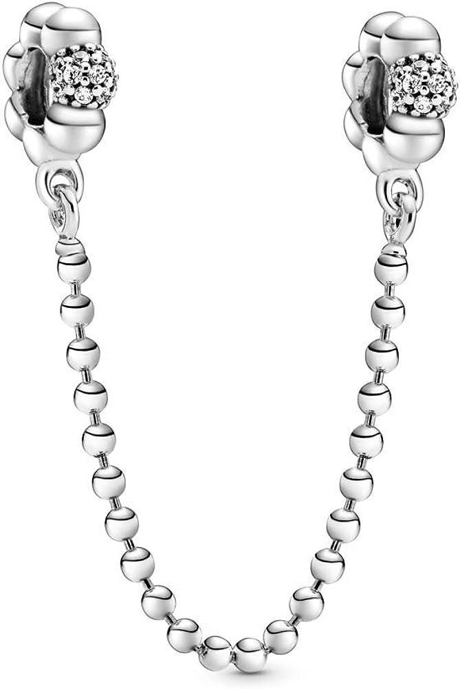 PANDORA Beads & Pave Safety Chain