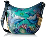 Anuschka Medium Bucket Hobodolphin World, Dolphin World